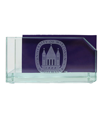 R.F.S.J Business Card Holder with Old Main Logo Etched