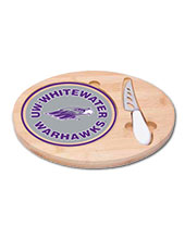 Cheese Board With Knife Mascot In Circle