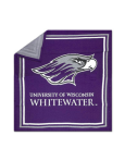 Jardine Knit Blanket Mascot Over Uw-Whitewater
