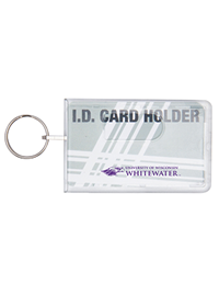 ID Holder - Clear with Purple Mascot & University of Wisconsin Whitewater