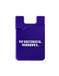 ID Holder - Purple Adhesive Phone Card Holder with UW-W & Warhawks
