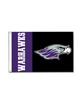 Flag With Mascot & Warhawks 2'X3'