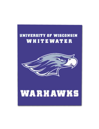 Garden Flag With Uw-W Over Mascot & Warhawks 12