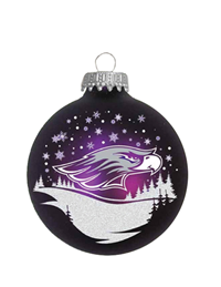 R.F.S.J Purple Ornament with Mascot in Winter Scene