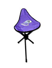 Logo Tri-Leg Stool with Mascot