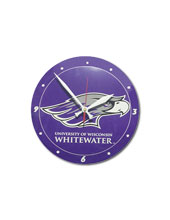 Clock With Mascot And Univ. Of Wisconsin-Whitewater