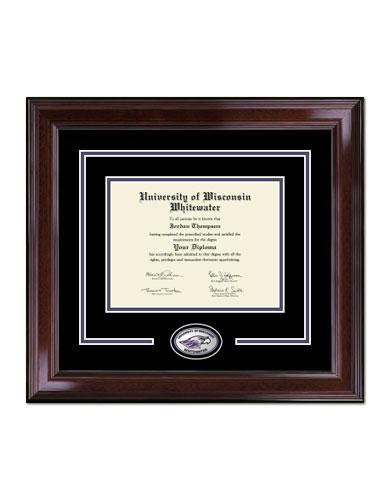 Spirit Medallion Diploma Frame In Encore With Black/Purple Mats ...