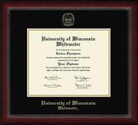 Gold Embossed Diploma Frame In Sutton With Black And Gold Mats (SKU 1039810456)