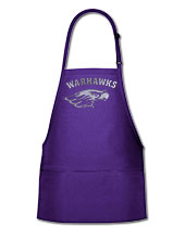 Neil Purple Apron with Warhawks over Mascot
