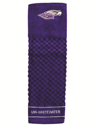 Woven Golf Towel Embroidered with Mascot and UW-W