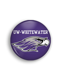Key Chain - Purple Corp Bottle Opener UW-Whitewater over Mascot