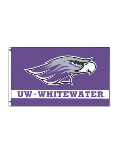 Flag With Mascot Over Uw-W 3'X5'