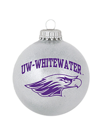R.F.S.J Grey Ornament with UW-W over Mascot