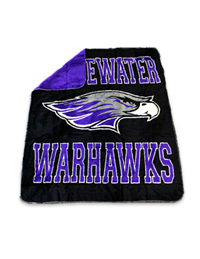 Blanket Fleece Whitewater Mascot Warhawks