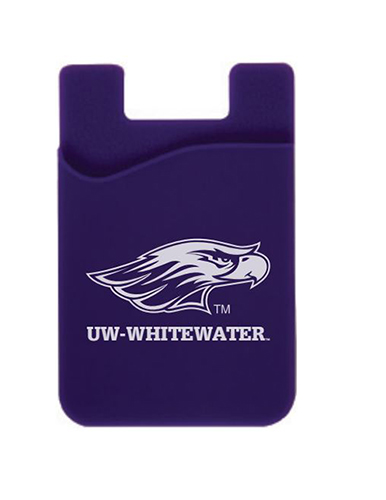 ID Holder - Purple Phone Card Holder with Mascot over UW-Whitewater (SKU 1047305433)