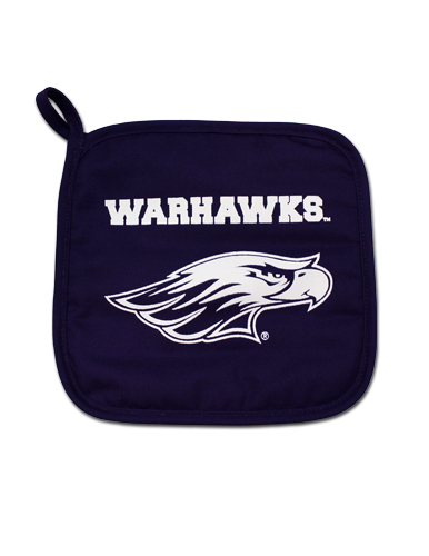Neil Pot Holder with White Warhawks over Mascot (SKU 1048099171)