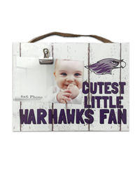 Kindred Heart Photo Clip Frame Cutest Little Warhawk Fan