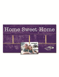 Legacy Purple Wooden Photo Board Home Sweet Home And Mascot