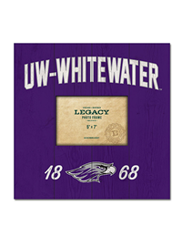 Legacy Wooden Photo Frame Uw-Whitewater Over 1868 And Mascot
