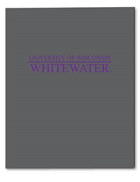Roaring Spring Grey Folder University Of Wisconsin Whitewater