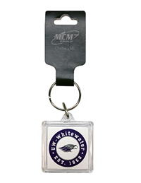 Key Chain - Square UW-Whitewater Mascot Est. 1868