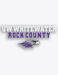 CDI Corp Decal UW-Whitewater Rock County over Mascot