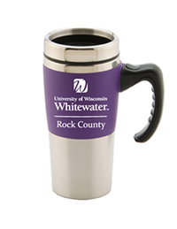R.F.S.J Travel Mug University of Wisconsin Whitewater Rock County