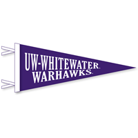 Collegiate Pacific 6x15 Pennant UW-Whitewater Warhawks