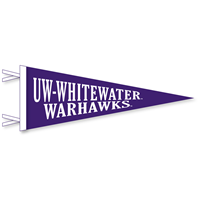 Collegiate Pacific 9x24 Pennant UW-Whitewater Warhawks