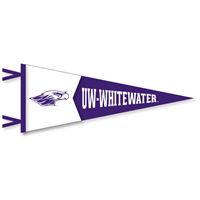 Collegiate Pacific12x30 Pennant Mascot and UW-Whitewater