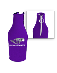MCM Bottle Koozie with Zipper Mascot over UW-Whitewater