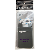 ID Holder - Grey Dual Pocket Phone Wallet with UW- Whitewater Warhawks