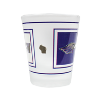 Glass - Frosted Shot Glass with Square Design