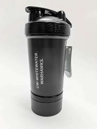 Blender Bottle Black Pro Stak 22 oz. Bottle with 100cc Jar and Pill Tray