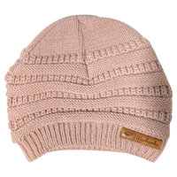 Legacy Pink Slouch Beanie with Patch
