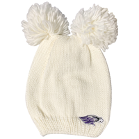 Logo Fit Double Pom Knit Hat