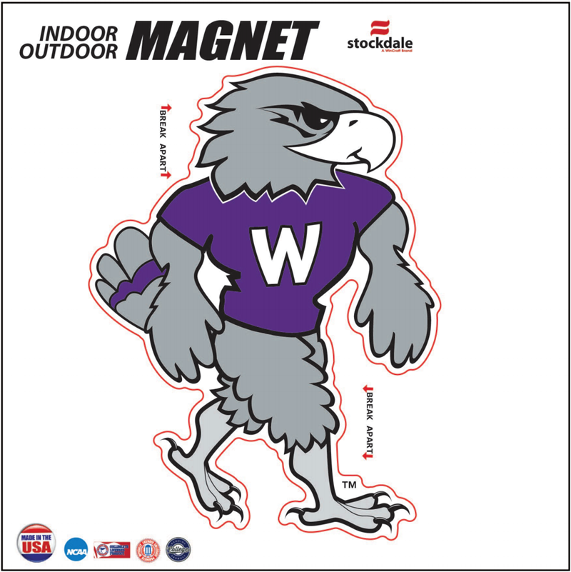 Stockdale Indoor Outdoor Throwback Willie Mascot Magnet 4.75in x 3.5in (SKU 1057719610)