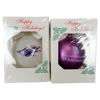 Ornament - Mascot and Uiversity of Wisconsin Whitewater 2 Pack Set