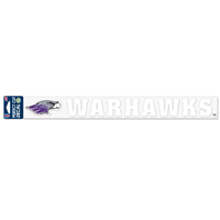 "Decal - 2""x17"" Mascot next to Warhawks"