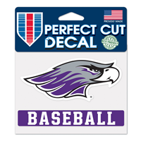 "Decal - 4""x5"" Mascot over Baseball"