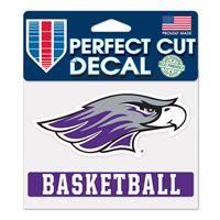 "Decal - 4""x5"" Mascot over Basketball"