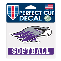 "Decal - 4""x5"" Mascot over Softball"