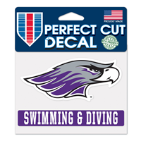 "Decal - 4""x5"" Mascot over Swimming & Diving"