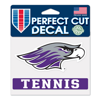 "Decal - 4""x5"" Mascot over Tennis"