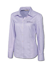 Cutter & Buck Lavender Dress Shirt With Uw-Whitewater Script