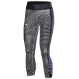 Under Armour Black Capri Leggings With Hexagon Pattern With Warhawks Down Side