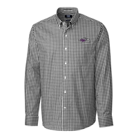 Cutter & Buck Button Up Plaid Dress Shirt