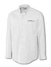 Cutter & Buck White Dress Shirt With Uw-Whitewater Script