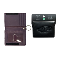 ID Holder - Leather Velcrow ID Holder Wallet with Mascot