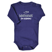 College Kids Long Sleeve Onesie Mascot With Warhawk (In Training) Underneath